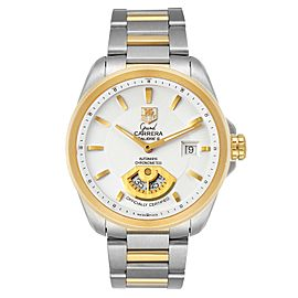 Tag Heuer Grand Carrera 40M Steel Yellow Gold Mens Watch WAV515B