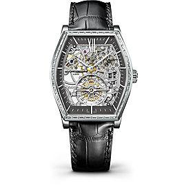 Vacheron Constantin Malte 30635/000P-9842 Platinum & Leather with Slate Dial 48.24mm Mens Watch
