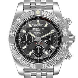 Breitling Chronomat Evolution Steel Diamond Mens Watch AB0140 Box Papers