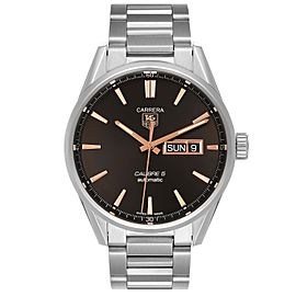 Tag Heuer Carrera Calibre 5 Day Date Steel Mens Watch WAR201D Box Card
