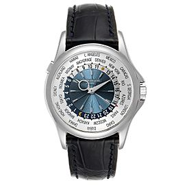 Patek Philippe World Time Complications Platinum Mens Watch 5130 Box Papers