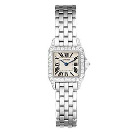 Cartier Santos Demoiselle White Gold Diamond Ladies Watch WF9005Y8