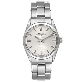 Rolex Air King Vintage Stainless Steel Silver Dial Mens Watch