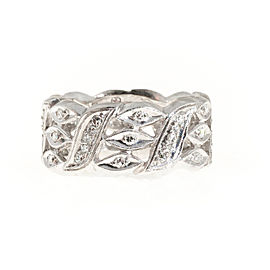 Platinum with 0.50ct. White Diamond Band Ring Size 10