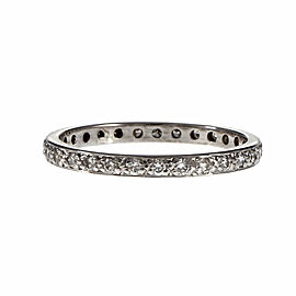 18K White Gold Diamond Eternity Band Ring Size 5.25