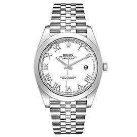 Rolex Datejust 41 White Dial Steel Mens Watch 126300