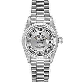 Rolex President White Gold Myriad Diamond Dial Ladies Watch 69179