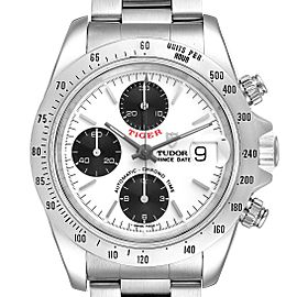 Tudor Tiger Prince White Dial Chronograph Steel Mens Watch 79280 Box