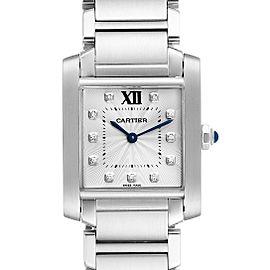 Cartier Tank Francaise Midsize Diamond Steel Ladies Watch WE110007