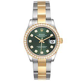 Rolex Datejust 31 Midsize Steel Yellow Gold Diamond Ladies Watch 278383