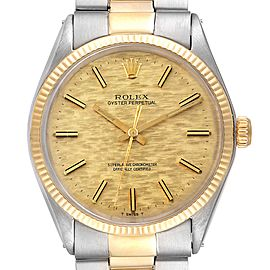 Rolex Oyster Perpetual Vintage Steel Yellow Gold Mens Watch 1002