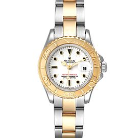 Rolex Yachtmaster 29mm White Dial Steel Yellow Gold Ladies Watch 69623