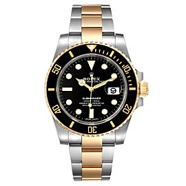 Rolex Submariner Steel Yellow Gold Black Dial Mens Watch 116613