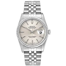 Rolex Datejust Silver Dial Jubilee Bracelet Steel Mens Watch 16220