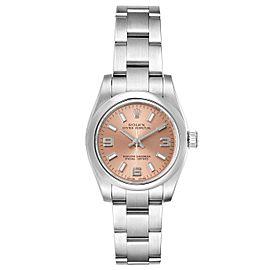 Rolex Nondate Salmon Dial Oyster Bracelet Ladies Watch 176200