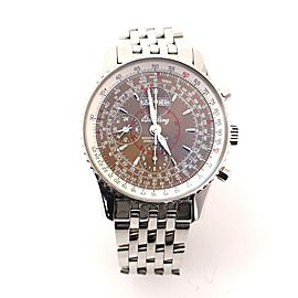 Breitling Navitimer Montbrillant Datora Chronograph Automatic Watch Stainless Steel 43