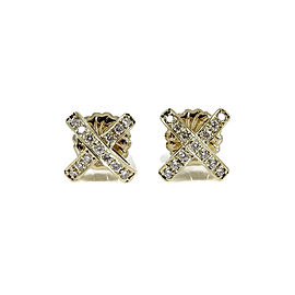 Roberto Coin 18K Yellow Gold .40tcw Diamond Earrings