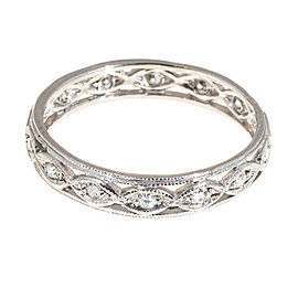 Vintage Platinum 0.20ct Diamond Eternity Ring Size 9