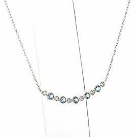 Platinum Aquamarine Necklace