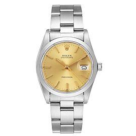 Rolex OysterDate Precision Steel Vintage Mens Watch 6694
