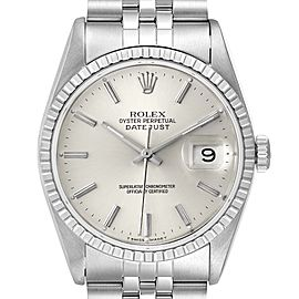 Rolex Datejust Silver Dial Jubilee Bracelet Steel Mens Watch