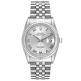 Rolex Datejust Steel White Gold Jubilee Bracelet Mens Watch 16234