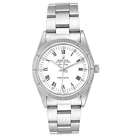 Rolex Air King 34mm White Dial Steel Mens Watch 14010