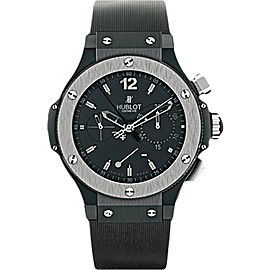 Hublot Big Bang Black Ceramic & Rubber with Black Dial 44mm Mens Watch