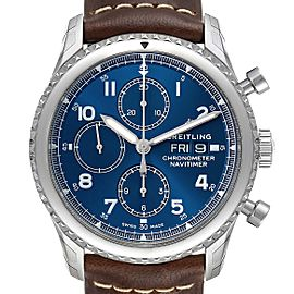 Breitling Navitimer Blue Dial Chronograph Steel Mens Watch A13314 Unworn