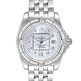 Breitling Cockpit Mother of Pearl Diamond Ladies Watch A71356