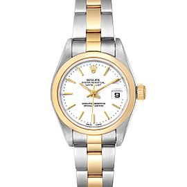 Rolex Datejust Steel Yellow Gold White Dial Ladies Watch 79163