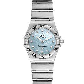 Omega Constellation Mini Blue MOP Diamonds Ladies Watch 1567.86.00