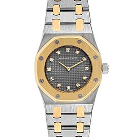 Audemars Piguet Royal Oak 26mm Diamond Steel Yellow Gold Ladies Watch