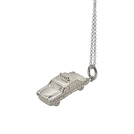 Tiffany & Co. 925 Sterling Silver Taxi Cab Car Pendant Charm Pendant Necklace