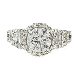 18K White Gold Diamond Ring Size 7