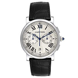 Cartier Rotonde Chronograph Steel Mens Watch WSRO0002