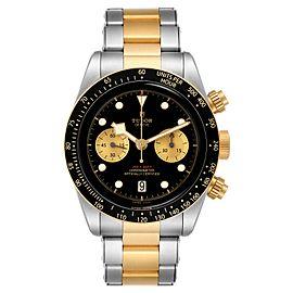 Tudor Heritage Black Bay Steel Yellow Gold Mens Watch 79350