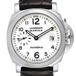 Panerai Luminor Marina 40 White Dial Mens Watch