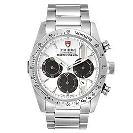 Tudor Fastrider White Dial Chronograph Steel Mens Watch 42000