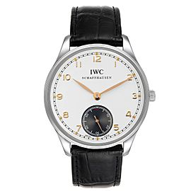 IWC Portuguese Silver Dial Manual Wind Steel Mens Watch IW545405