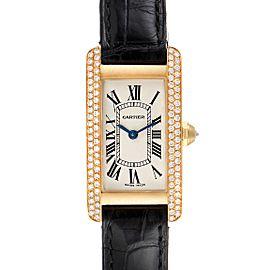 Cartier Tank Americaine Yellow Gold Diamond Ladies Watch WB701251