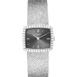 Patek Philippe 18k White Gold Diamond Bezel Cocktail Ladies Watch 3353