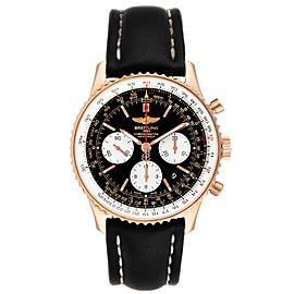 Breitling Navitimer 01 Rose Gold Black Dial Mens Watch RB0120