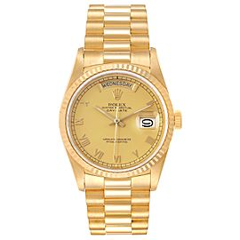 Rolex President Day-Date Yellow Gold Roman Dial Mens Watch 18238