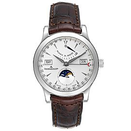 Jaeger Lecoultre Master Calendar Moonphase Mens Watch 147.8.41.S