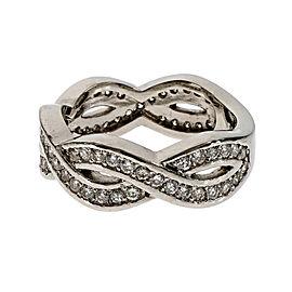 Platinum Infinity .75ct Diamond Ring Size 6
