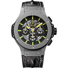Hublot Oscar Niemeyer 311.AI.1149.HR.NIE11 Micro-Blasted Tantalum / Black Leather with Skeleton Dial 44mm Mens Watch