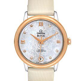 Omega DeVille Prestige Butterfly Diamond Watch 424.22.33.20.55.001 Unworn