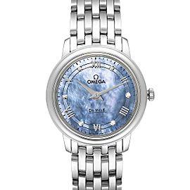 Omega DeVille Prestige MOP Diamond Ladies Watch 424.10.27.60.57.001 Unworn