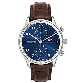 IWC Portuguese Chronograph Limited Edition Steel Mens Watch IW371432